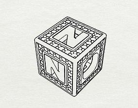 3D printable model Baby Block Charm - N