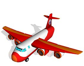 3D asset Cargo Plane