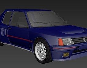 Peugeot 205 Turbo 3D model