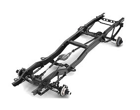 PICKUP TRUCK CHASSIS 4WD 3D model