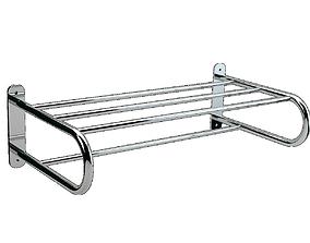 Handle Shelf Towel Ribbed 3D