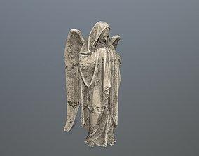 3D asset Angel Statue 01