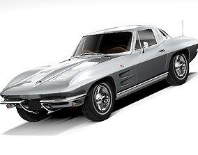 Chevrolet Corvette C2 1963 LowPoly 3D