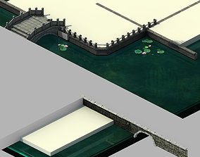 Tang Luoyang City - River Bank 01 3D model