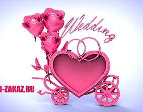 3D print model Wedding card