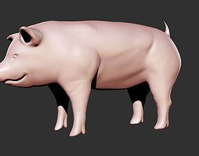 Simple Pig 3D printable model