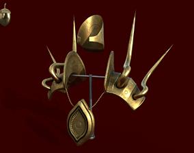 3D asset Ancient Golden Armor Display