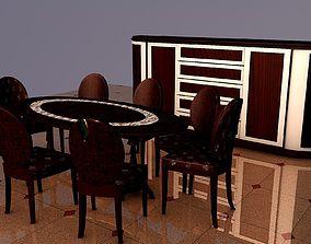 3D kitchen Dinning table set