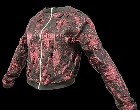 Red Glitter Jacket 3D asset low-poly