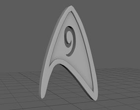 Badge of engineer from Star Trek 3D print model