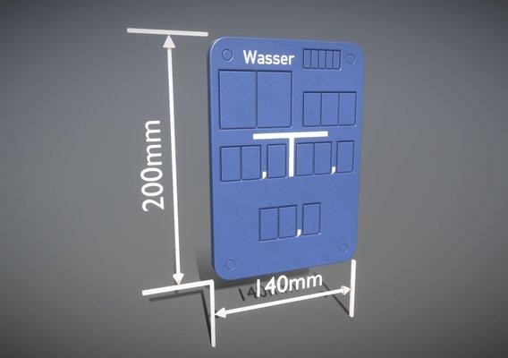 Hinweisschild Wasser 200x140mm