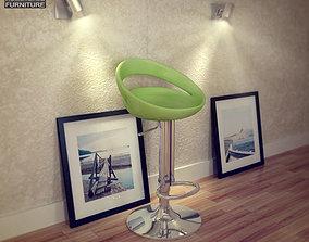 Zuo Tickle Barstool 3D model