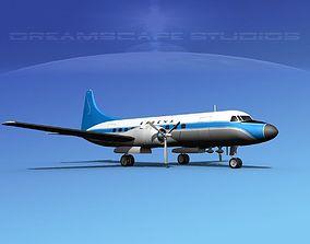 Convair CV-340 Sabena 3D model