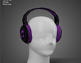 VR / AR ready DJ headsets - Low Poly model