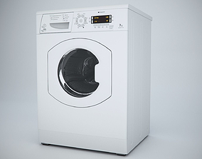 Washing Machine Hotpoint WMAO743K 3D asset