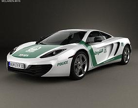 3D model McLaren MP4-12C Police Dubai 2013 car