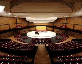 3D model Concert Hall Amphitheater VR Baked Corona Max