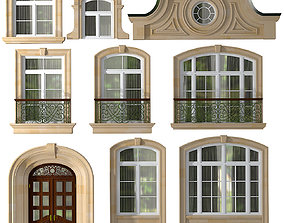 Windows and doors in the style of modern classics 3D
