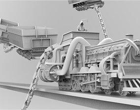 3D High Poly Model Death Train Diorama