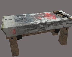 3D model medieval stone table for blacksmith