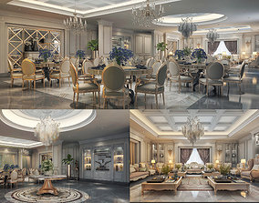 Realistic Salon and Dining Luxury Design 3d Max Model