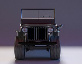 1945 Willys MB Jeep model 3D