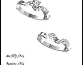 Unique bridal set rings cad ring design 3D print model