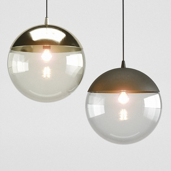 H&M Metal pendant light 3D model
