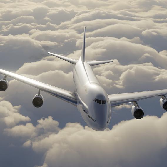 Boeing 747-200 in flight