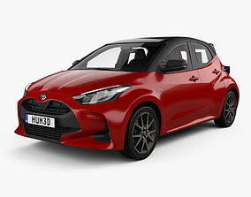 3D Toyota Yaris hybrid with HQ interior 2020
