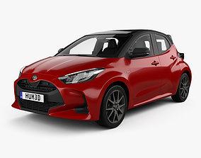 3D Toyota Yaris hybrid with HQ interior 2020