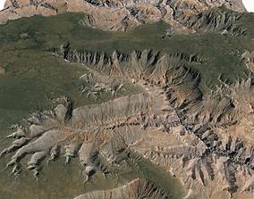 Grand Canyon Terrain Landscape 3D model