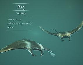 Ray fish 3D model animated