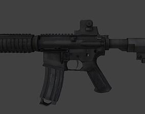 MK18 Assault Rifle LOW POLY 3D asset