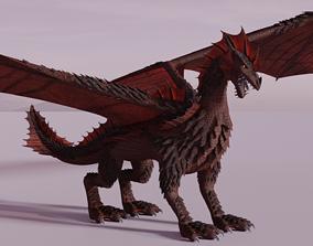 Flying Dragon Model animated