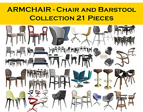 Chair - armchair and Barstool Collection 24 3D model