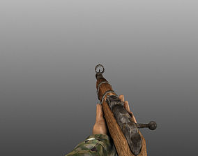 WWII Animated Weapons and Arms 3D