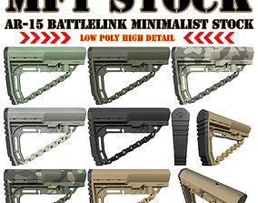 Mission First Tactical AR15 BattleLink 3D asset 2