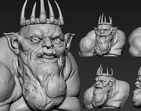 knight 3D print model Goblin King