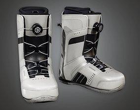 3D asset Snowboard Shoes 01a - SAG - PBR Game Ready