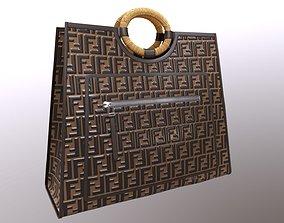 3D model Fendi FF Embossed Logo Runaway Shopper Bag