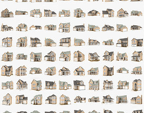 90 cottages pack 3D