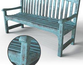 3D model Wicker hub park bench