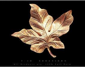 3D model realtime Leaf Gold