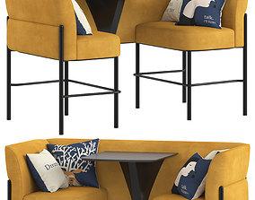 3D Herman Miller Hue Lounge Furniture high
