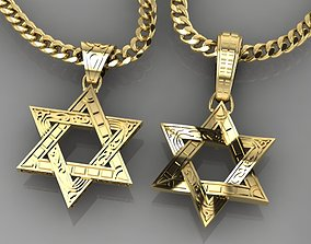 3D printable model Pendant Star of David