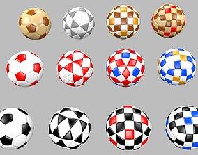3D Soccer football balls