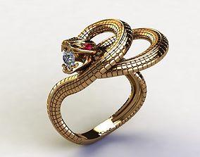 Snake Ring 3D printable model alphabet