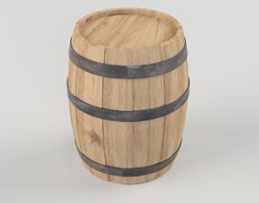 Wooden Wine Barrel 3D model