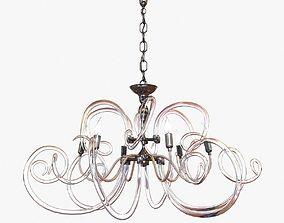 Bellart vanity glass chandelier 3D